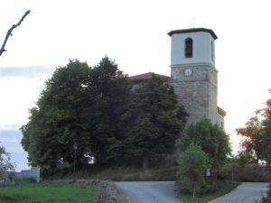 Iglesia parroquial de Villambistia. Localidad de Burgos de 77 habitantes
